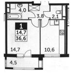Продажа 1 комнатной квартиры пос. Развилка, Римский пр-д, корп. 6